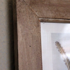 Cheap pine picture frame painted with a wood effect