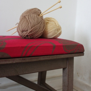 Raw Silk Statement Bench
