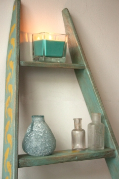 Sea Glass ladder shelf
