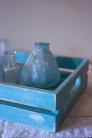 Aqua lime-finished mini crate