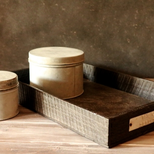 Seed Tray with faux concrete bottom
