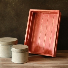 Scandinavian Pink lime-washed mini tray