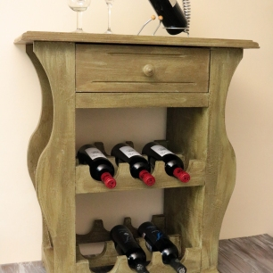 Rustic Wine Console Table